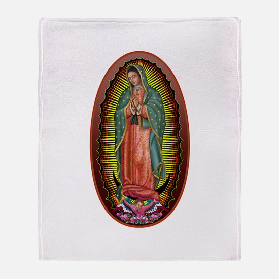 6 Lady of Guadalupe Throw Blanket