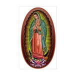 6 Lady of Guadalupe Sticker (Rectangle)