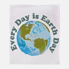 Earth Day Every Day Throw Blanket
