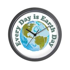 Earth Day Every Day Wall Clock