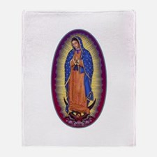 8 Lady of Guadalupe Throw Blanket