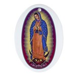 8 Lady of Guadalupe Ornament (Oval)