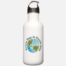 Earth Day Every Day Water Bottle
