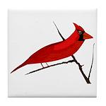 Cardinal facing right Tile Coaster
