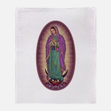 9 Lady of Guadalupe Throw Blanket