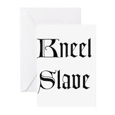 Kneel Slave Greeting Cards (Pk of 10)