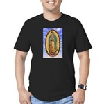 La Guadalupana Men's Fitted T-Shirt (dark)