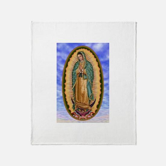 La Guadalupana Throw Blanket