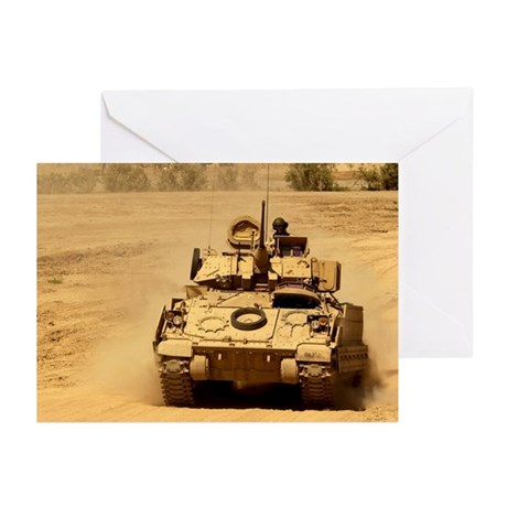 M2A2 Bradley Fighting Vehicle Greeting Cards (Pack