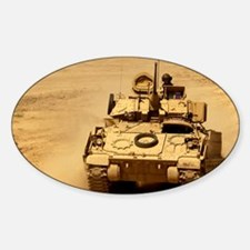 M2A2 Bradley Fighting Vehicle Oval Decal