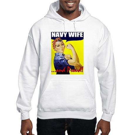 Proud Navy Wife Hooded Sweatshirt
