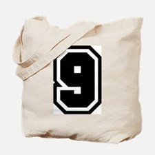 Varsity Uniform Number 9 Tote Bag