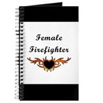 Female Firefighter Flames Journal