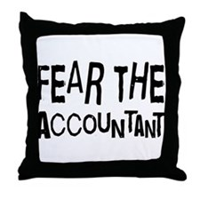 Funny Accountant Throw Pillow