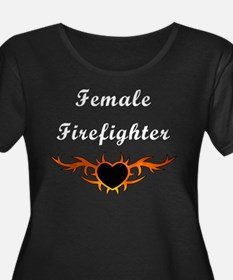 Female Firefighter Flames T