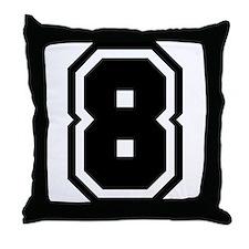 Varsity Uniform Number 8 Throw Pillow