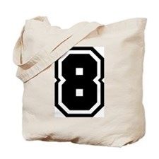 Varsity Uniform Number 8 Tote Bag