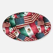 Grunge-Style Mexican/American - Mexican F Decal