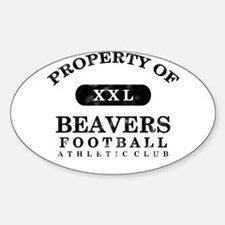 Property of Beavers Sticker (Oval)