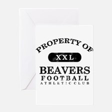Property of Beavers Greeting Card