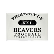 Property of Beavers Rectangle Magnet