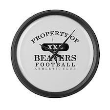 Property of Beavers Large Wall Clock