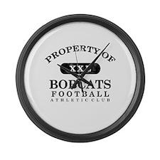 Property of Bobcats Large Wall Clock