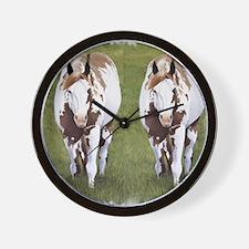 Red Dun Overo Wall Clock