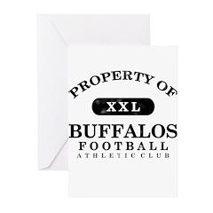 Property of Buffalos Greeting Cards (Pk of 20)