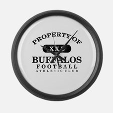 Property of Buffalos Large Wall Clock