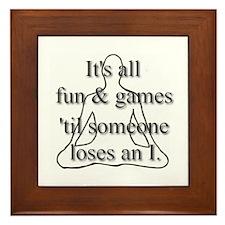 It's all fun & games... Framed Tile