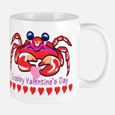 red valentine crab Small Small Mug