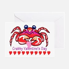red valentine crab Greeting Card