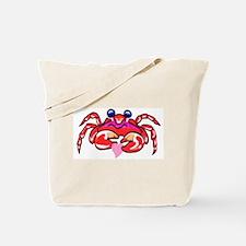 red valentine crab Tote Bag