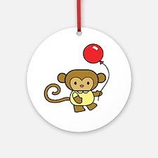 Cute Monkey Ornament (Round)