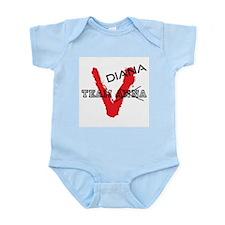 V tv Team Diana Infant Bodysuit