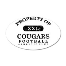 Property of Cougars 22x14 Oval Wall Peel