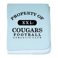 Property of Cougars baby blanket