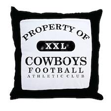 Property of Cowboys Throw Pillow