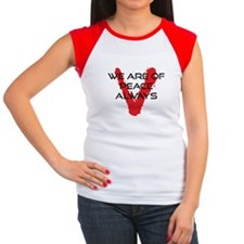 V tv We are of Peace Always Women's Cap Sleeve T-S