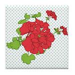 Dots a Geranium Tile Coaster