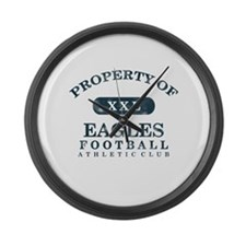Property of Eagles Large Wall Clock