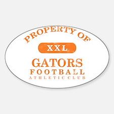 Property of Gators Sticker (Oval)