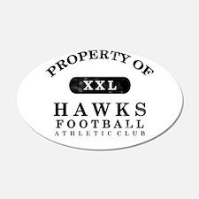 Property of Hawks 22x14 Oval Wall Peel