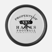 Property of Hawks Large Wall Clock