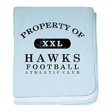 Property of Hawks baby blanket