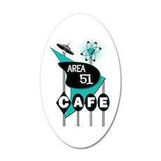 Area 51 Cafe 22x14 Oval Wall Peel