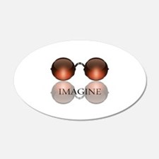 Imagine Rose Colored Glasses 22x14 Oval Wall Peel