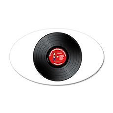 Old Rocker Dude Vinyl Record 22x14 Oval Wall Peel