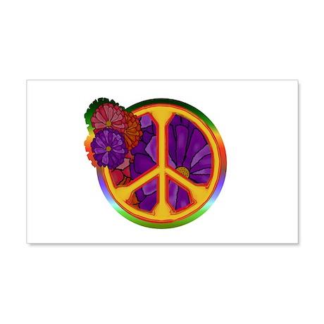 Flower Power Peace Sign 22x14 Wall Peel